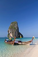 Karst formation on Laem phra nang beach, Thailand