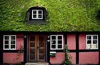 Denmark, Near Lejre, Half-timbered house