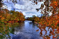 USA, Idaho, Boise, Boise River in Fall