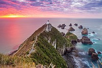 Nugget point cape in Kaimataitai, South Island, New Zealand