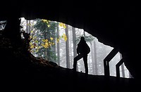 Layser Cave entrance, Gifford Pinchot National Forest, Washington