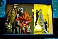 Fashion window shop at London, England