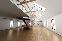Architecture interior visualisation  3D rendered Illustration