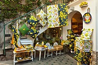 A lemon theme shop in Positano, Amalfi Coast, Italy