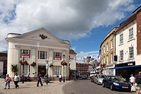 Romsey town centre in hampshire