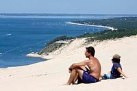 Dune du Pyla, Gironde, Aquitaine, France.