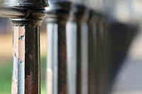 Iron fence close up at Green Park, London, England, UK, Europe
