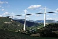 Viaduct Millau, A75, Aveyron, Midi-Pyrenees, France