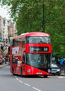 The New Bus for London, also known as the New Routemaster, Borismaster or Boris Bus, on Piccadilly, London, UK
