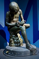 Bronze Statue known as Spinario or Boy with Thorn  Caesarian or early Augustan Age  Capitoline Museums, Rome, Italy