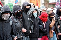 Demonstration against French government and the expulsion of undocumented, Lyon, Rhône, Rhône-Alpes, France.