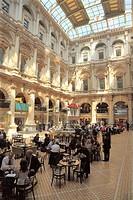 The Corn Exchange interior atrium in the City of London