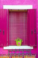 Italy, Venice, Burano: rose window