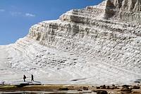 Scala dei Turchi, a rock formation in the cliffs near Realmonte, Porto Empedocle, Sicily