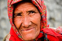 portrait of old indian woman