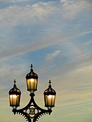 Lamp posts on the Westminster Bridge, London, England, Great Britain, Europe.