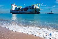 adrift ship in el saler beach