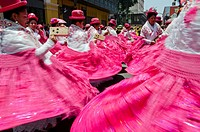 Candelaria folk parade in Lima downtown  Peru