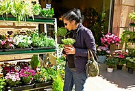 -Woman Buying Plants- Gold Coast (Spain).