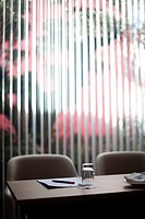 Empty table in a meeting room