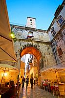 Medieval Iron Gate, Diocletian's Palace, Old town Split, Central Dalmatia, Croatia.