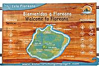 Map, Floreana Island, Galapagos Islands, Ecuador.