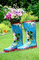 Colorful Rubber Boots in my garden