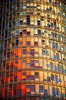 BARCELONA, SPAIN - Torre agbar skyscraper.