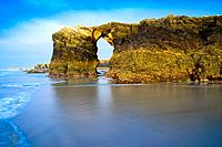 Beach of the Cathedrals. Ribadeo. Lugo. Galicia. Spain. Europe.