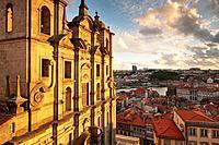 Evening light Igreja dos Grilos Ribeira Porto Portugal.