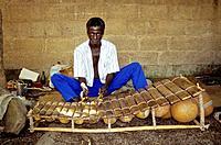 Balafon (Xylophone) Maker Kone Djedi. Ouagadougou, Burkina Faso.