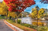 River Dee at llangollen in Denbighshire North Wales.