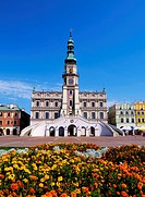 City Hall in Zamosc, Poland.