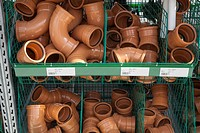 underground drain pipe fittings in builders merchants.