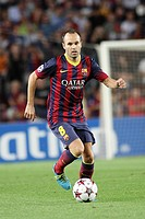 FC Barcelona. Andres Iniesta in action.