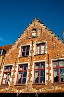 House facade. Bruges, West Flanders, Belgium.