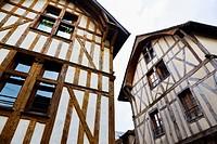 medieval houses in Troyes in France