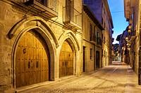 St. James way; San Nicolas street at Estella, Navarra, Spain.