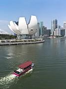 MARINA BAY SINGAPORE Marina Bay Sands Hotel Wacky duck boat.