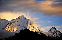 Thamserku Peak, 6623 mts., Sagarmatha National Park, the Himalaya range, Khumbu area, Solukhumbu District, Sagarmatha Zone, Nepal