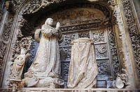 Sepulchre of Alfonso de Castilla, by Gil de Siloé, Abbey of Cartuja de Miraflores, Burgos, Spain