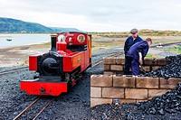 steam locomotive, Fairbourne narrow gauge railway, Wales.