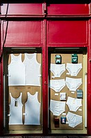 Mens underwear on displey in a shop window (Pendra da Sant Antoni, Barcelona).