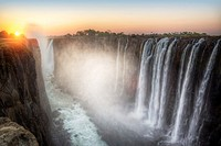 victoria falls in zambia side.