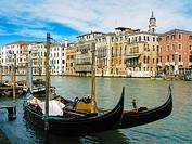 Gondole. Venice. Veneto. Italy.
