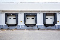 Loading bays for trucks.