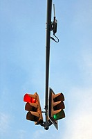 Traffic lights, Barcelona, Catalonia, Spain