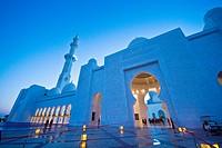 facade of Sheikh Zayed Mosque, Abu Dhabi, United Arab Emirate