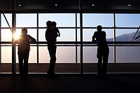 Silhouette of people, Chiang Mai, Thailand, Southeast Asia.