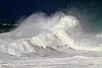 Waves at Llanes coast, Asturias, Spain.